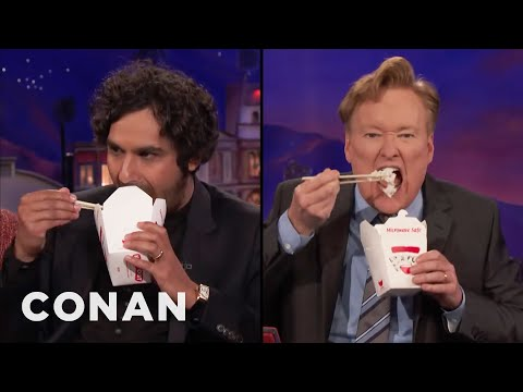 Conan Fails Kunal Nayyar's Food Acting Class  - CONAN on TBS