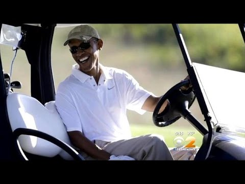 President Obama Plays Golf After Making Somber Statement On Beheaded American Journalist James Foley