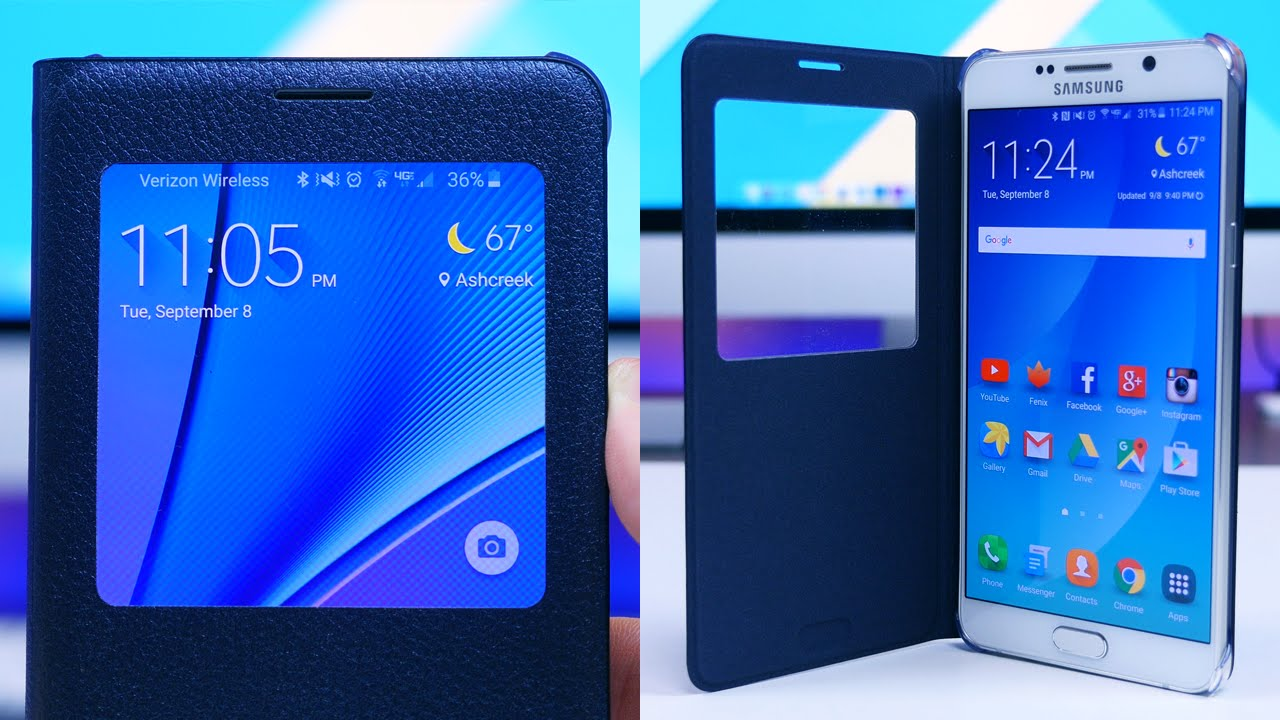 the latest 787f0 b7c68 Samsung Galaxy Note 5 S-View Flip Cover Review
