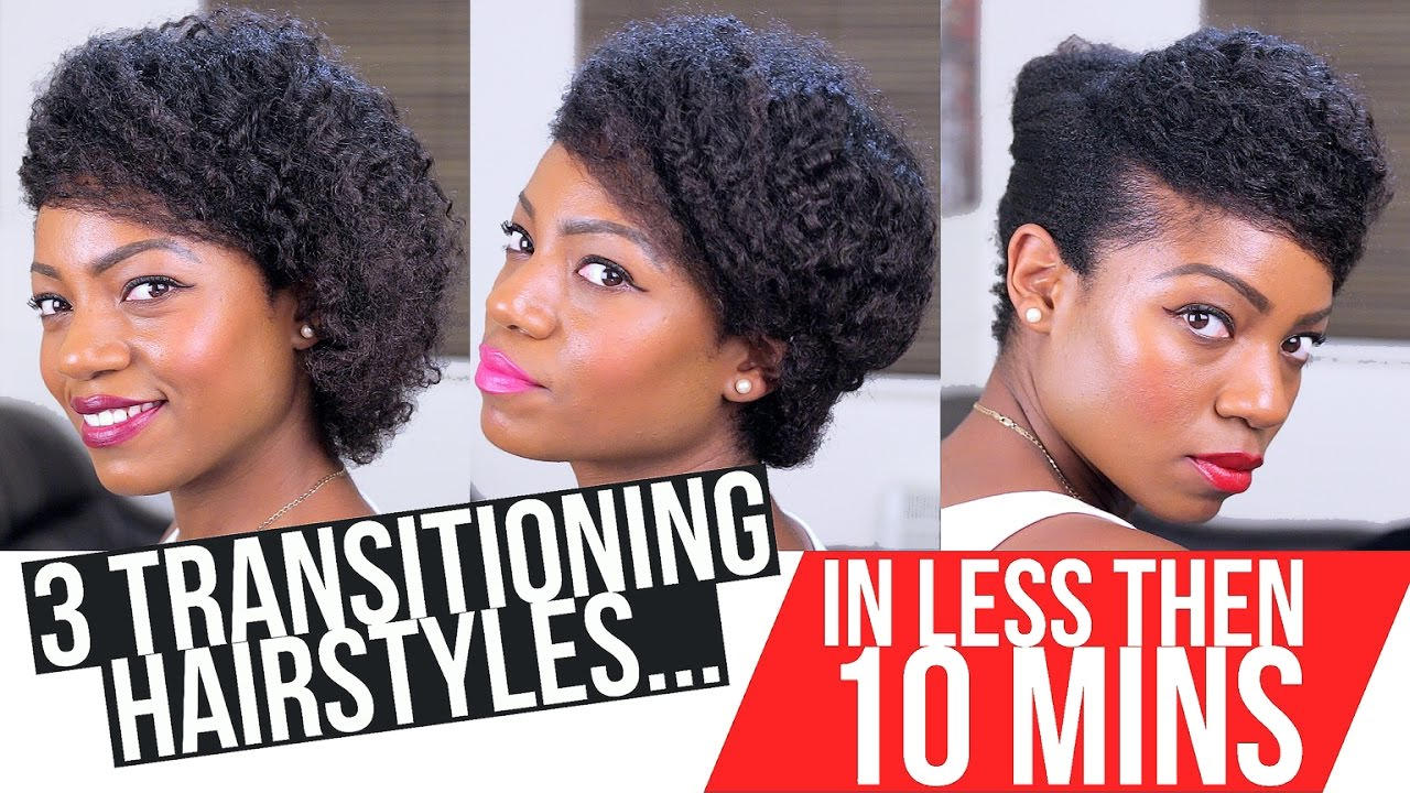 transitional hair styles transitioning hairstyles 3 styles less then 10 mins 4455