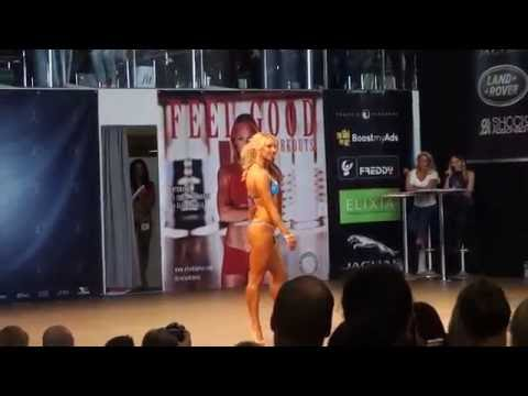 Johanna Lind Fitness Helsinki 2014 bikini round