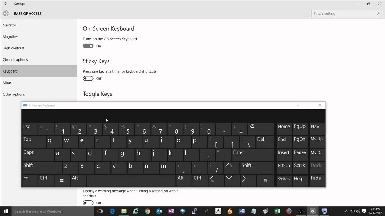 614f927301d How to Enable the On-Screen Keyboard in Windows 10 - YouTube