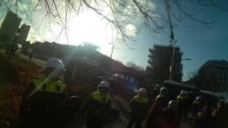 Den Haag 27-01-2015 vreedzaam protest neer geslagen door de politiestaat !