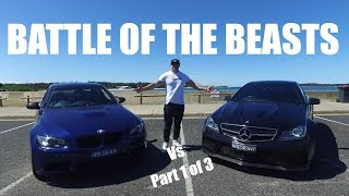 Mercedes C63 AMG BS VS BMW M3 - Part 1 of 3 Review