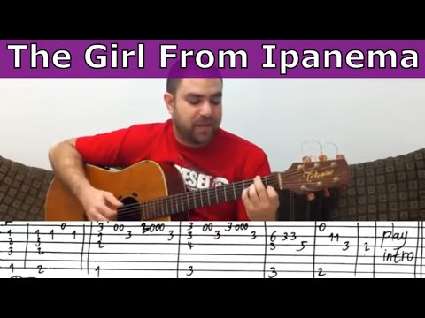 Fingerstyle Tutorial: The Girl From Ipanema - Guitar Lesson w/ TAB