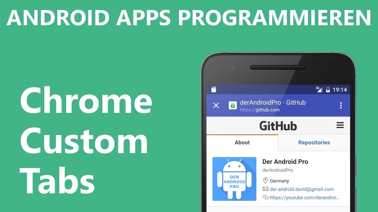 chrome custom tabs android apps programmieren deutsch german