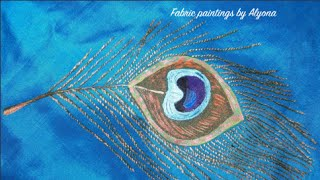 Fabric painting Tutorial- How to draw a peacock feather step by step