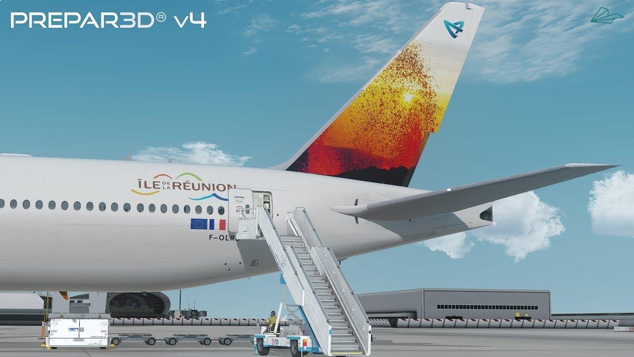 Prepar3D v4 5 | Paris to Réunion | LFPG-FMEE | PMDG 777-300ER | P3D