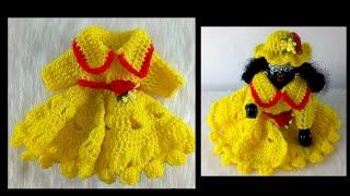 very easy and beautiful crochet dress for laddu gopal || laddu gopal woolen dress for winter ||