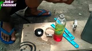 Cara membuat variasi dari botol minyak wangi untuk air radiator