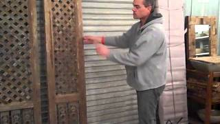 Opening An Antique Lattice Wall Panel, Sept, 2011