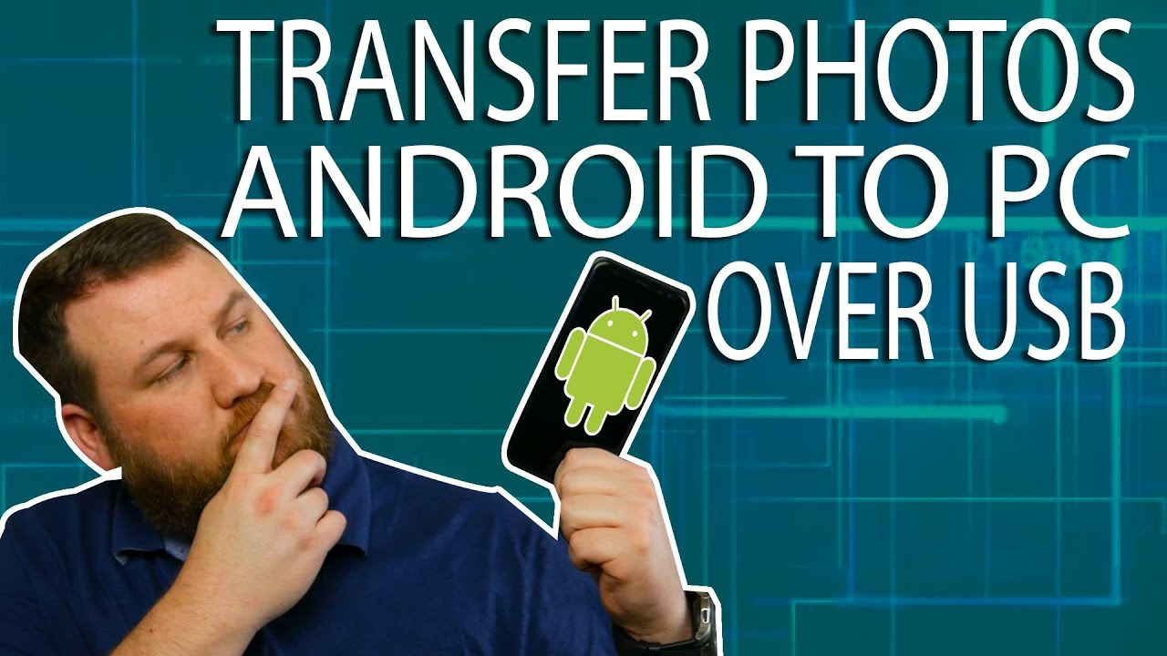 Transferring photos from android tablet to pc