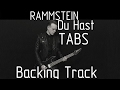 Rammstein Du Hast cover (tabs, backing track and lyrics)