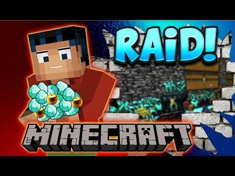 Minecraft Steve Factions FUN - RAIDING NOOBS!!!