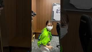 始球式本番3分前の最後のイメトレ!