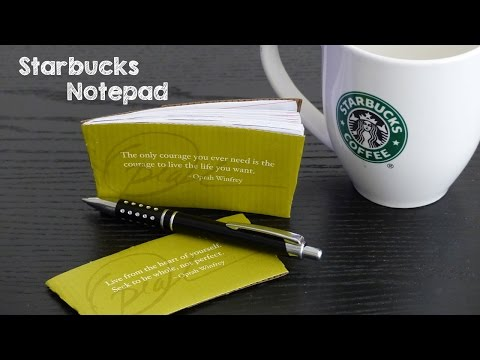 DIY Starbucks Mini Notebook | How to Make DIY Paper Notepads | DIY Gift Ideas