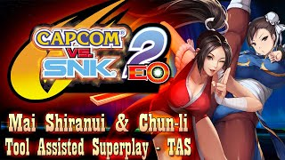 【TAS】CAPCOM VS SNK 2 - RIVALS TEAM MAI SHIRANUI & CHUN LI