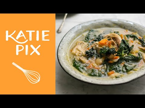 Leftover Roast Chicken Soup | Love Food Hate Waste | Katie Pix