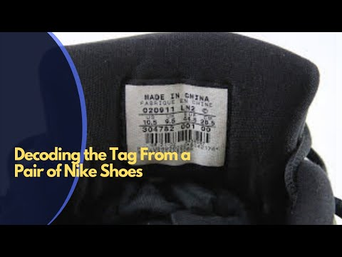 Decoding the tag from a pair of Nike Shoes to resale on eBay