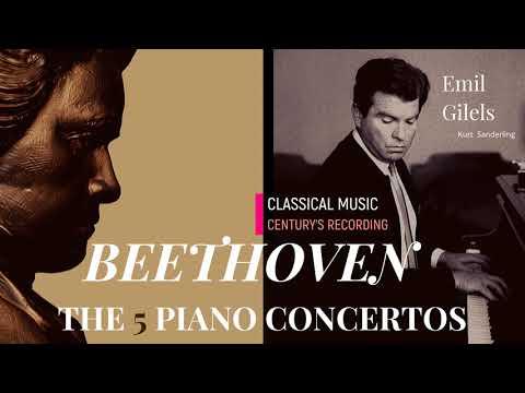 Beethoven - Piano Concertos No.1,2,3,4,5 'Live Recordings' + P° (Ct. rec.: Emil Gilels / Sanderling)