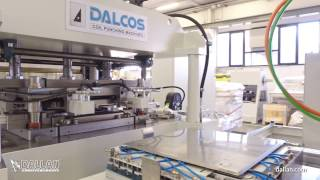 Metal ceiling tiles: perforation and automatic bending line Dalcos FXN 800