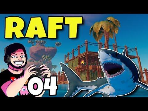 Piscina no Meio do Mar #04 | RAFT | Gameplay em Português de Raft PT-BR