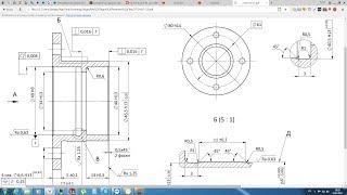 Solidworks. Урок 22.6 Чертёж СТАКАНа подшипникового узла - создание чертежа