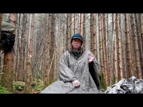Stormproof Cold Weather Bushcraft with Ghillie Blanket & Poncho-tarp