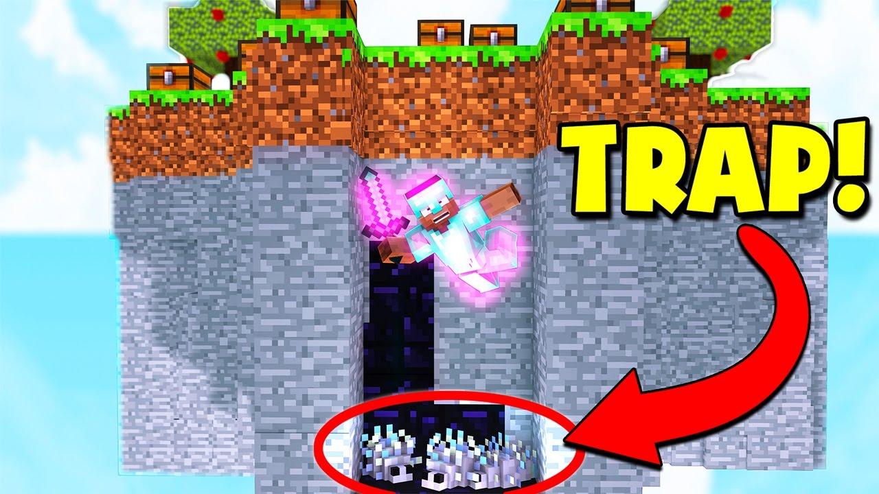 SILVERFISH MINECRAFT BED WARS TRAP Minecraft Trolling