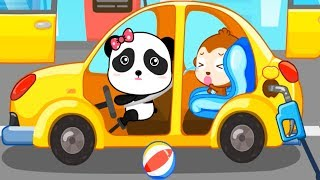 Baby Panda Kids Car Games - Pick Color Cars Train Truck Plane And Play Learn Transportation Vehicles
