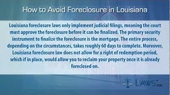 How to stop foreclosure in Louisiana