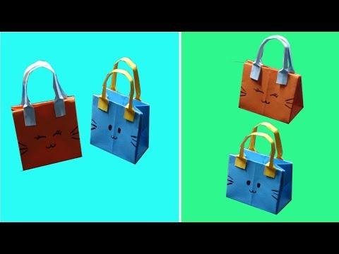 How to make Paper Bag - DIY Paper bag for treat - DIY Goodie bag - Very easy