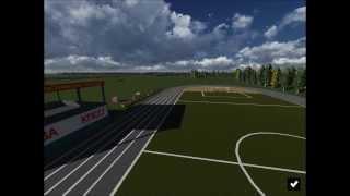 Гарнизон Рехлин. Воссозданная панорама стадиона.