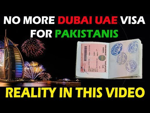Dubai Visa Suspend For Pakistanis??