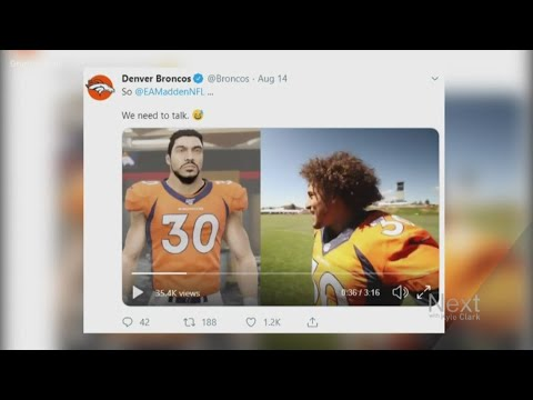 BEARDO - Phillip Lindsay not impressed with his Madden avatar