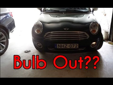 mini cooper r56 parking light change youtube. Black Bedroom Furniture Sets. Home Design Ideas