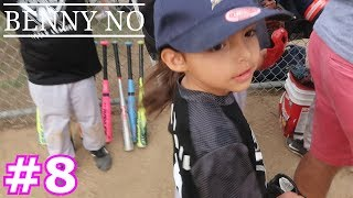 4 YEAR OLD BELLA MAKES HER FIRST CATCH! | BENNY NO | COACH PITCH SERIES #8
