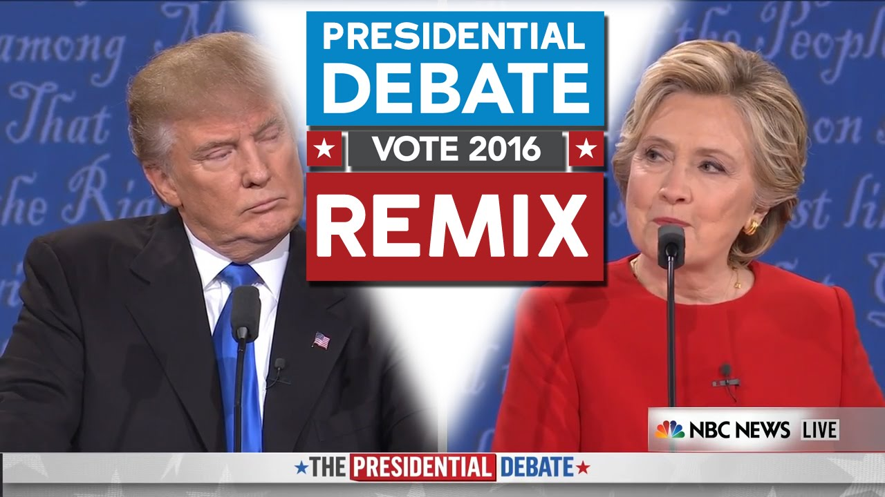 Presidential debate 2016 remix wtfbrahh trump vs hillary youtube