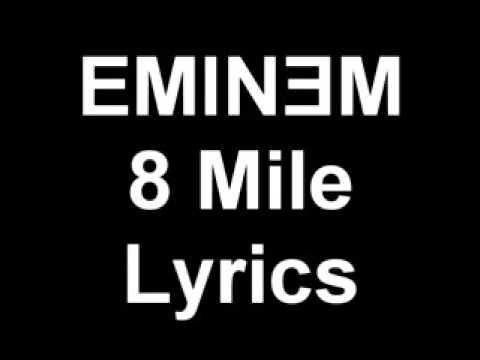 Eminem-  8 mile song lyrics