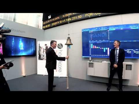 Handicare Opening Bell at Nasdaq Stockholm