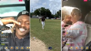 Antonio Brown Girlfriend IRRITATED As He Goes To See Therapist, Then Works Out