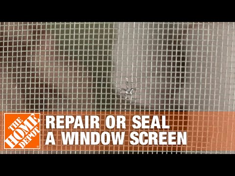 How to repair or seal a window screen the home depot for Home depot screen replacement