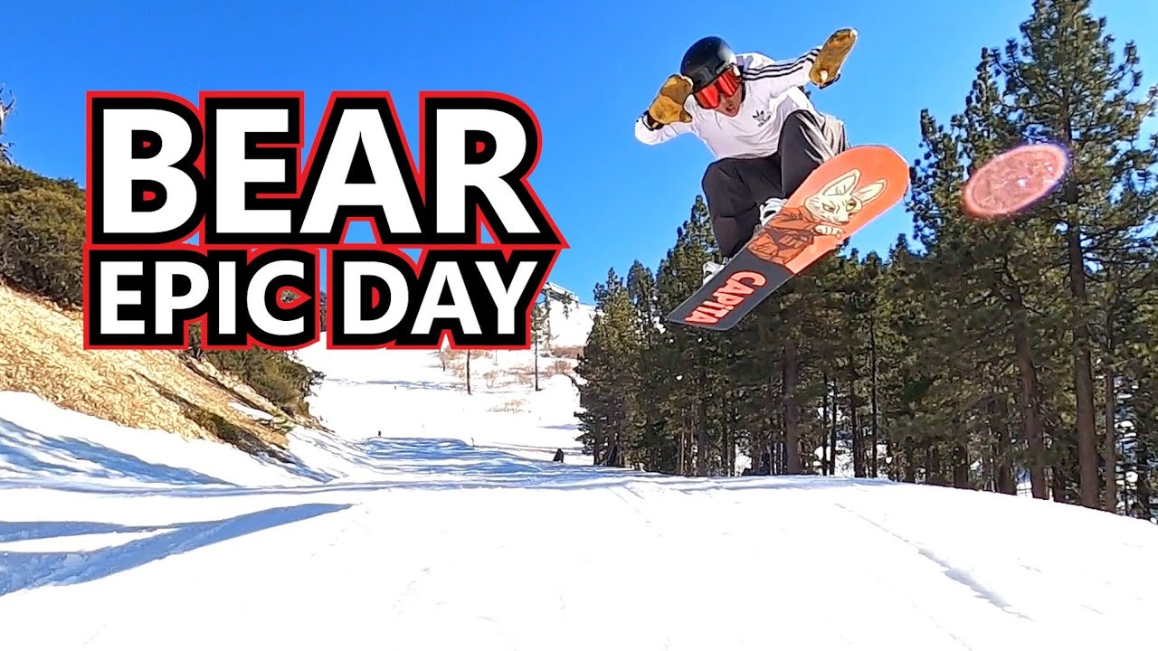 Epic Park Day Snowboarding at Bear Mountain