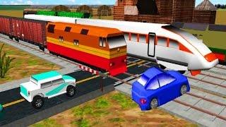 Мультики для детей. Мультик про машинки и поезда. Перекресток мультик