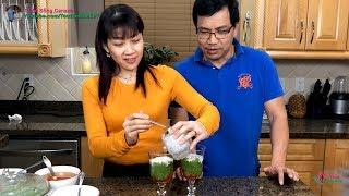 Bánh Lọt Lá Dứa đơn giản, rất ngon tại nhà 🇨🇦257》 Vietnamese Cendol with Palm Sugar & Coconut Milk