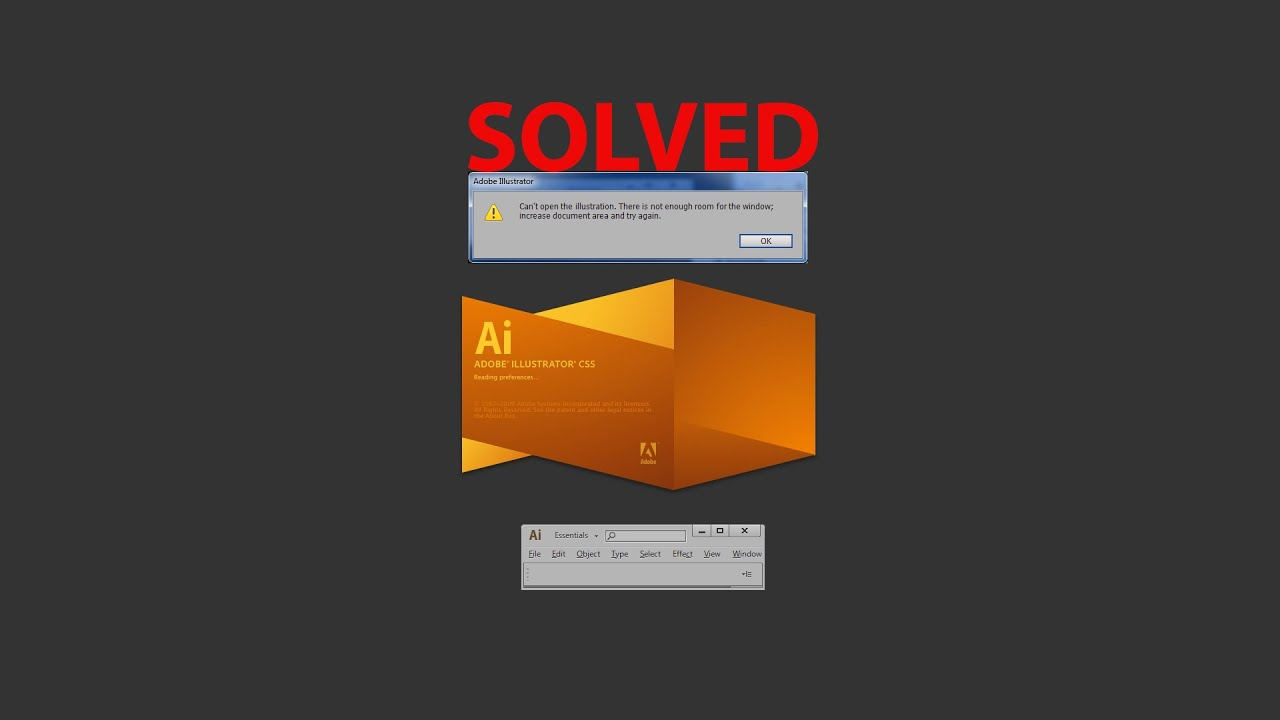 [Quick FIX] - adobe illustrator can't open the illustration  Not enough room