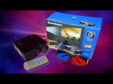 £27 LED Excelvan Entertainment Projector ( Chinese , cheap ) Full Review With PS4 Gameplay!
