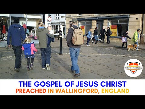 UK Street Preaching: Market Place in Wallingford, England