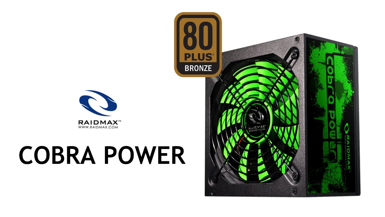 Raidmax Cobra Power 500W 80Plus Bronze PCStv