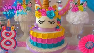 Fiesta de unicornios ????, arco iris ????, decoración temática infantil, niñas